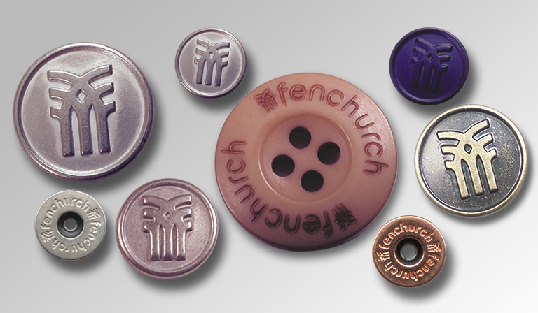 Fenchurch logo on buttons