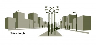 Fenchurch Lamp Posts T-shirt