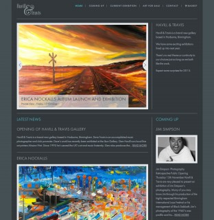 Website for Havill & Travis Art Gallery