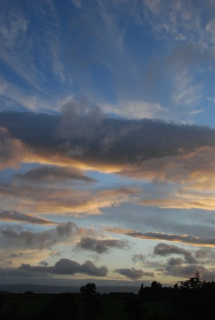 Amazing Sky at Sunset, August 2014