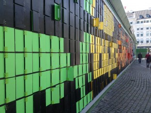 The Happy Wall in Copenhagen