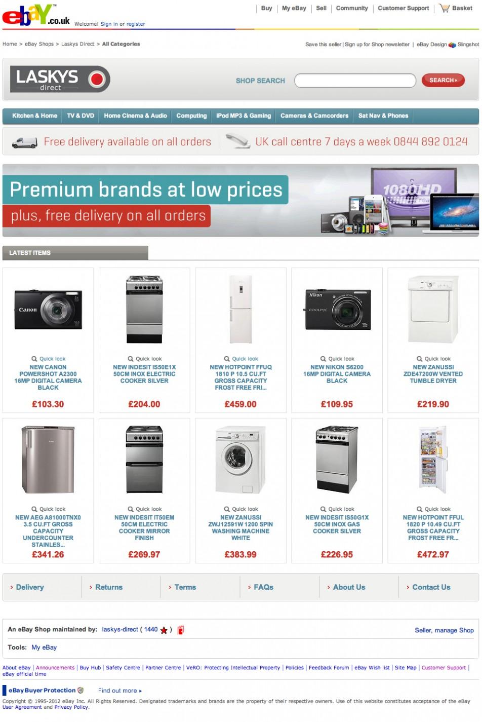 Laskys eBay Store | Slingshot Graphic Design & Web Design